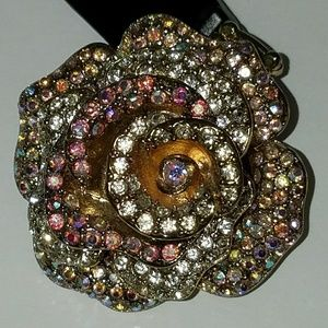 Guess Jewelry - Guess RING Aurora Borealis Crystal Rose 3D New